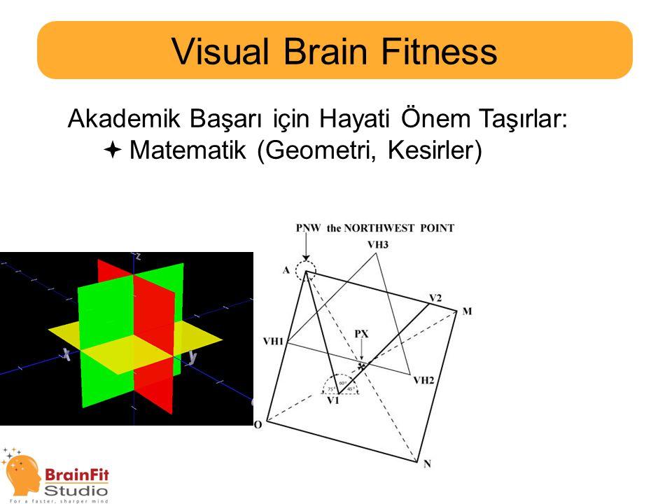 Visual Brain Fitness Akademik Başarı için Hayati Önem Taşırlar: