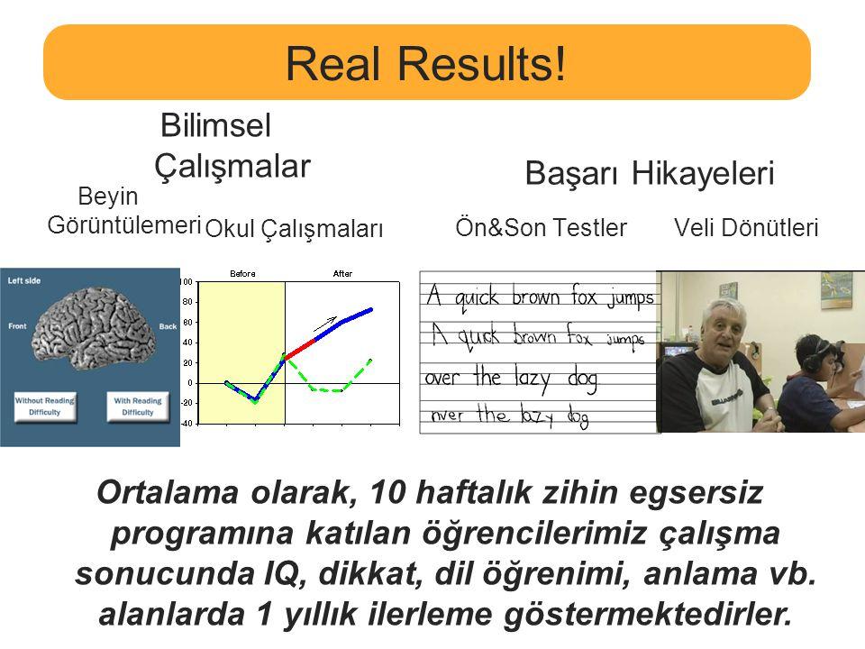 Real Results! Bilimsel Çalışmalar Başarı Hikayeleri