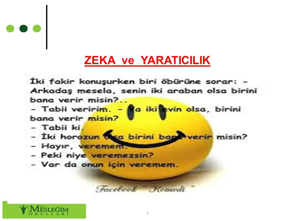 ZEKA ve YARATICILIK