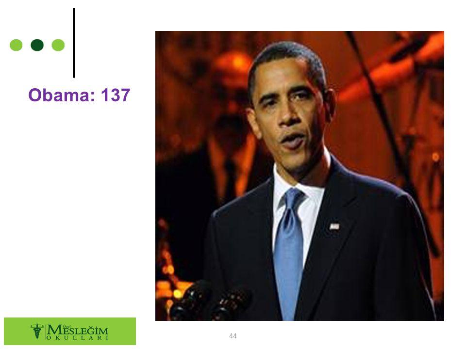 Obama: 137