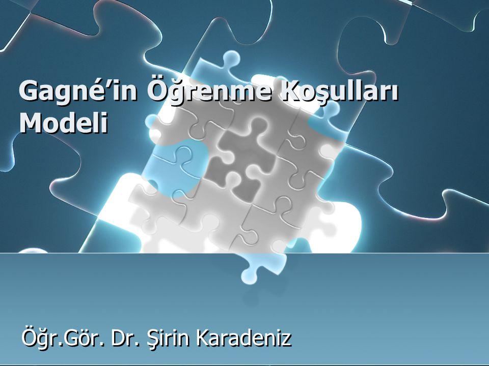 Gagné'in Öğrenme Koşulları Modeli