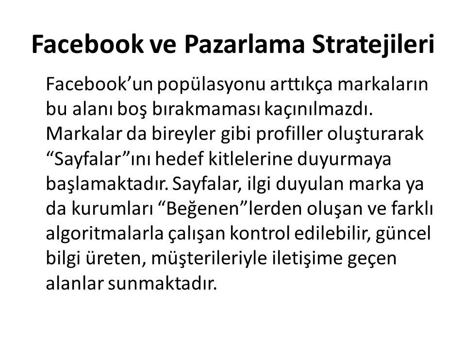Facebook ve Pazarlama Stratejileri
