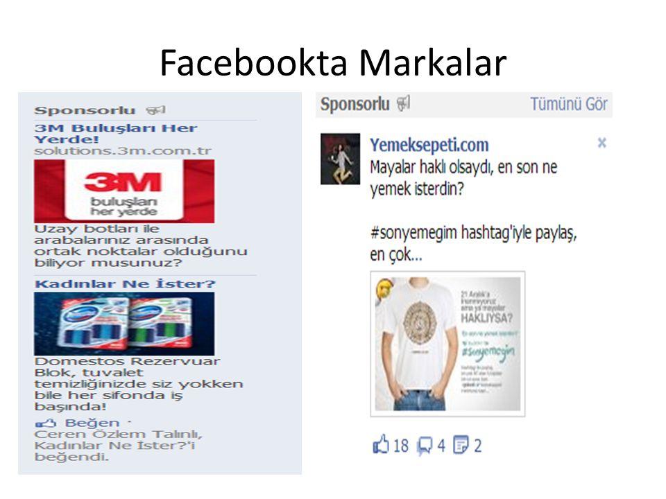 Facebookta Markalar