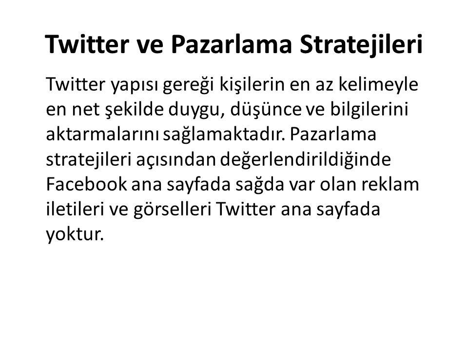 Twitter ve Pazarlama Stratejileri