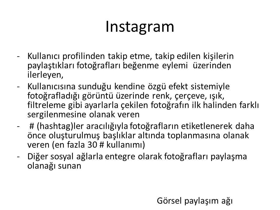 Instagram Kullanıcı profilinden takip etme, takip edilen kişilerin paylaştıkları fotoğrafları beğenme eylemi üzerinden ilerleyen,