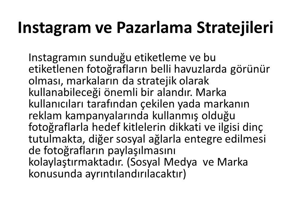 Instagram ve Pazarlama Stratejileri