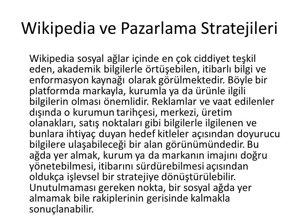 Wikipedia ve Pazarlama Stratejileri