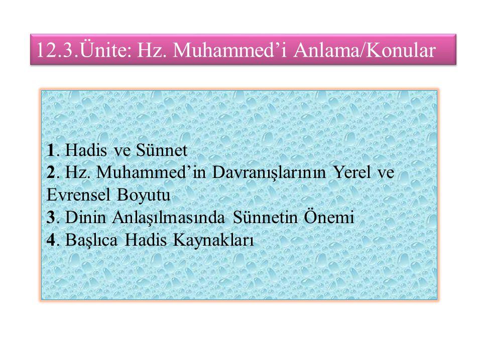 12.3.Ünite: Hz. Muhammed'i Anlama/Konular