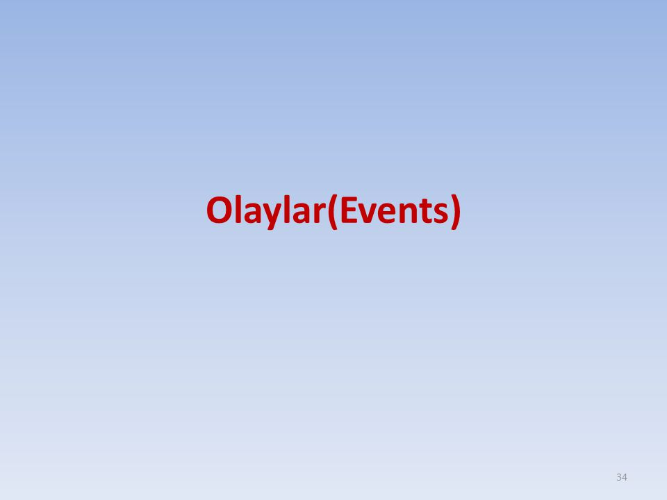 Olaylar(Events)