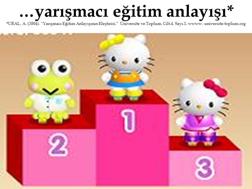 …yarışmacı eğitim anlayışı. URAL, A. (2004)