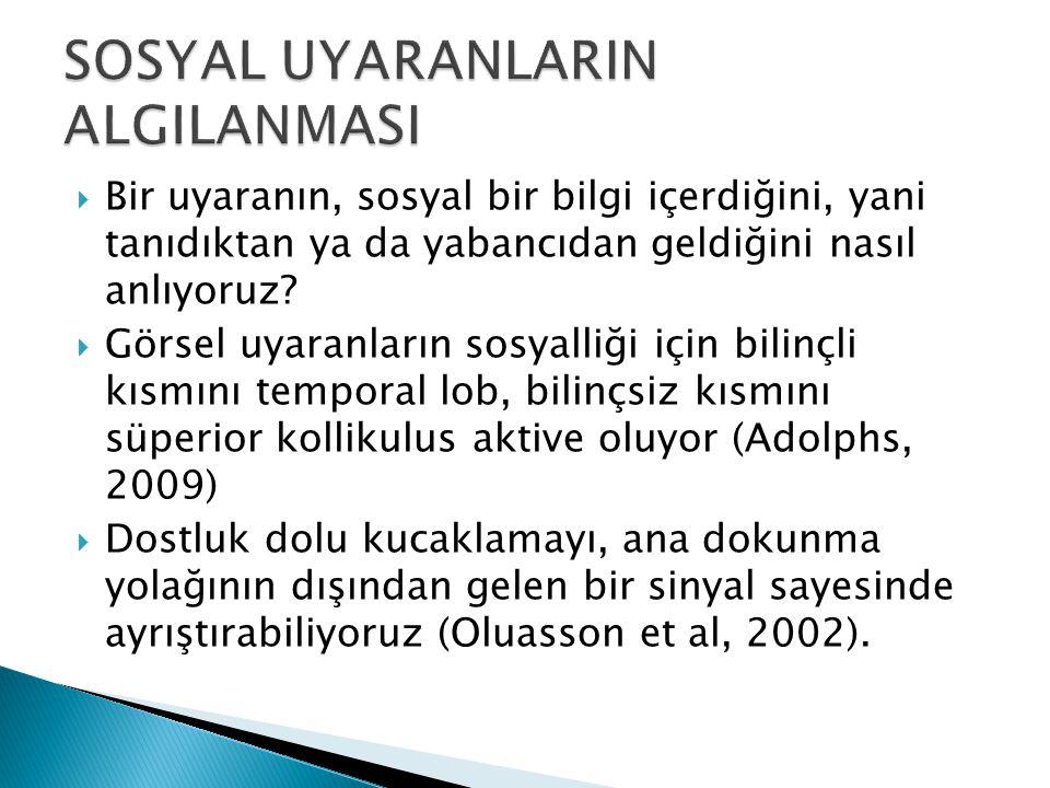 SOSYAL UYARANLARIN ALGILANMASI