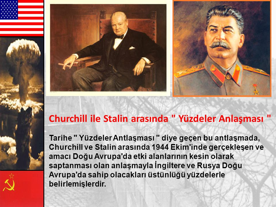 Churchill ile Stalin arasında Yüzdeler Anlaşması