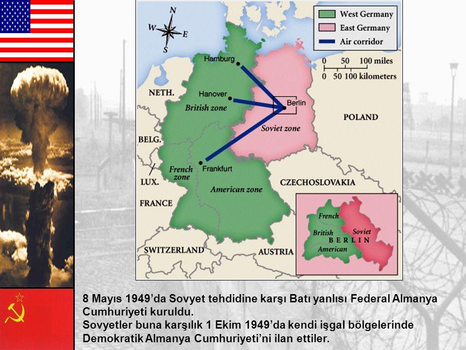 8 Mayıs 1949'da Sovyet tehdidine karşı Batı yanlısı Federal Almanya
