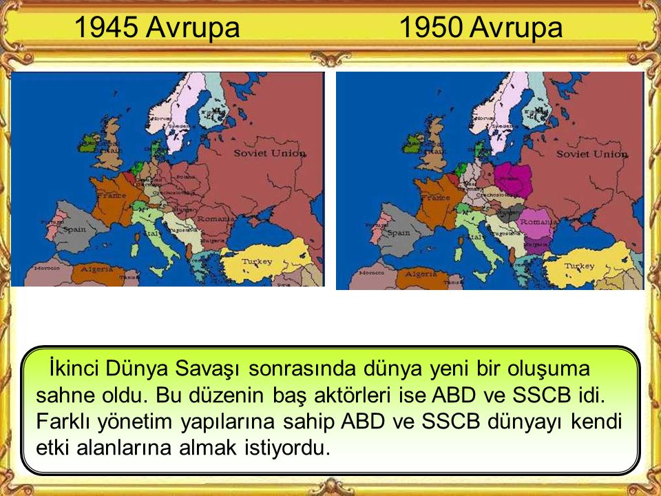 1945 Avrupa 1950 Avrupa.