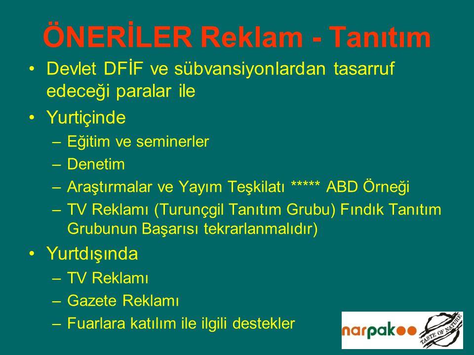 ÖNERİLER Reklam - Tanıtım