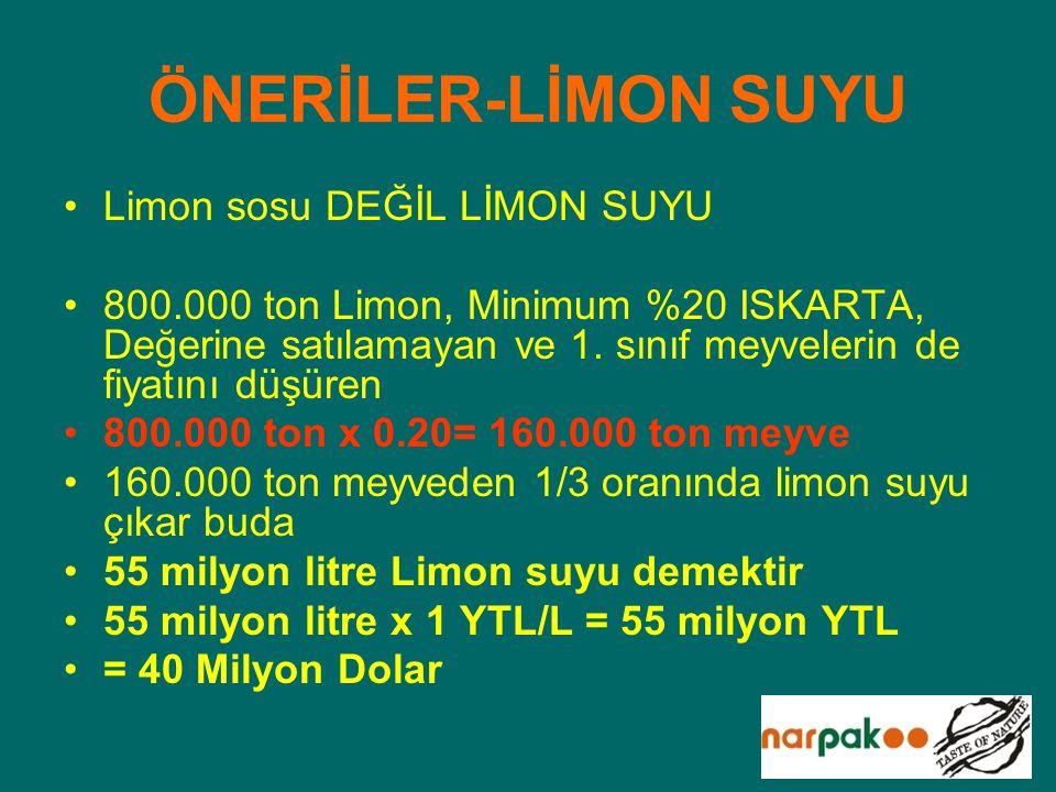 ÖNERİLER-LİMON SUYU Limon sosu DEĞİL LİMON SUYU