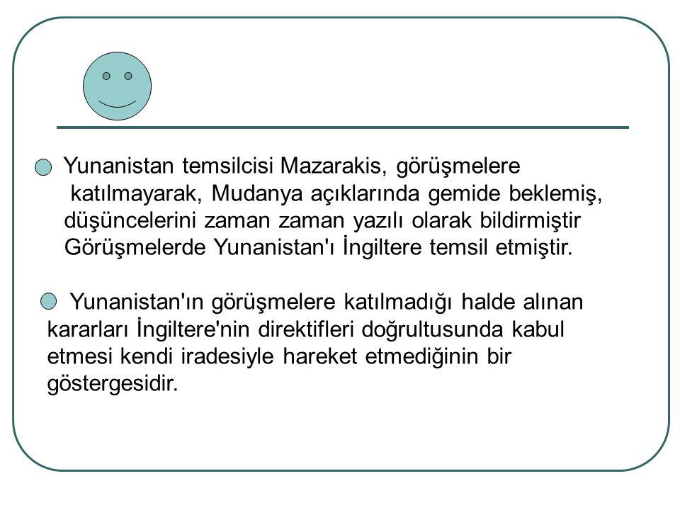 Yunanistan temsilcisi Mazarakis, görüşmelere