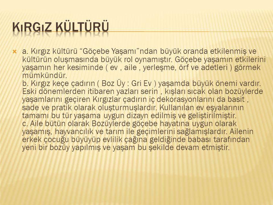 Kırgız Kültürü