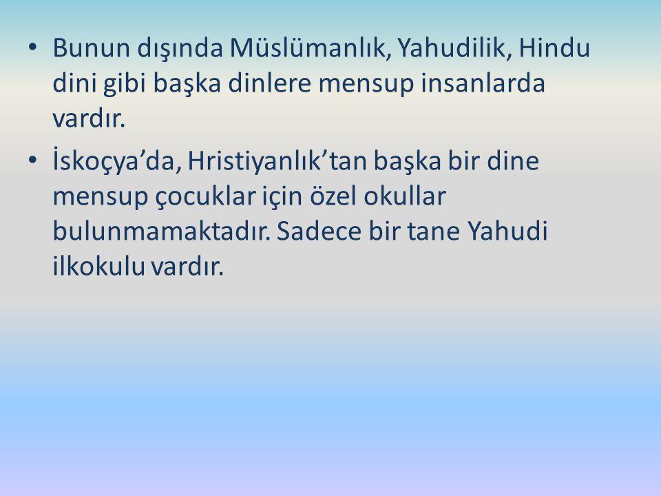 Bunun dışında Müslümanlık, Yahudilik, Hindu dini gibi başka dinlere mensup insanlarda vardır.