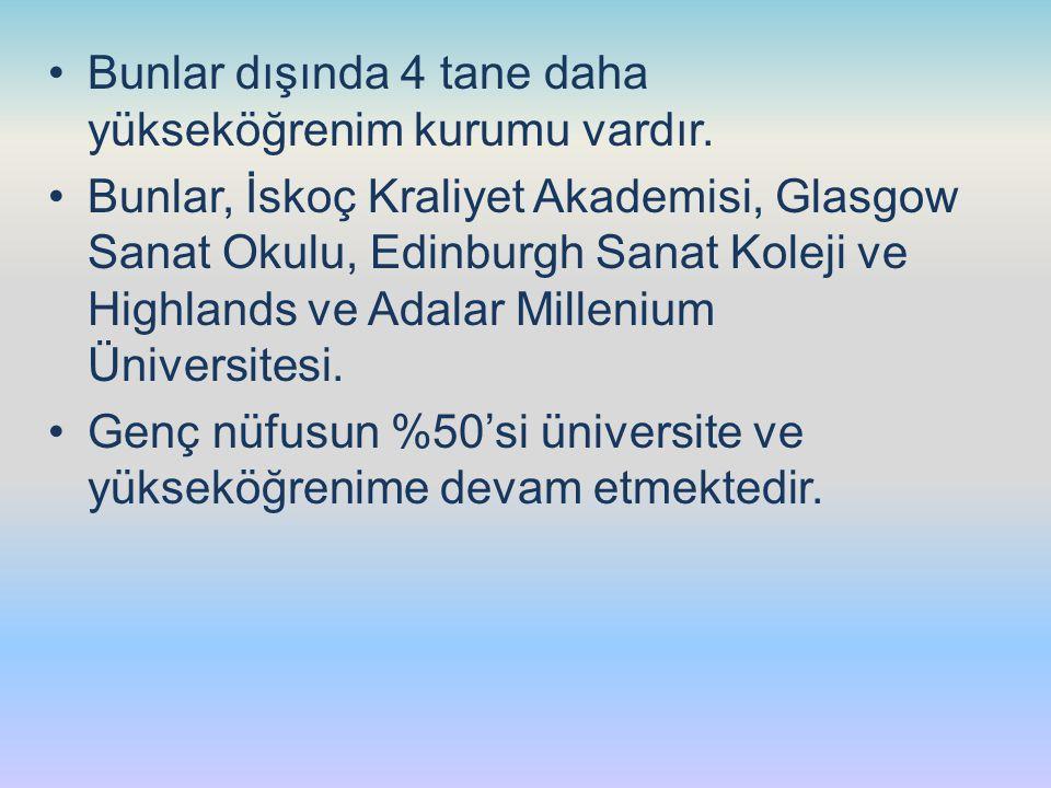 Bunlar dışında 4 tane daha yükseköğrenim kurumu vardır.