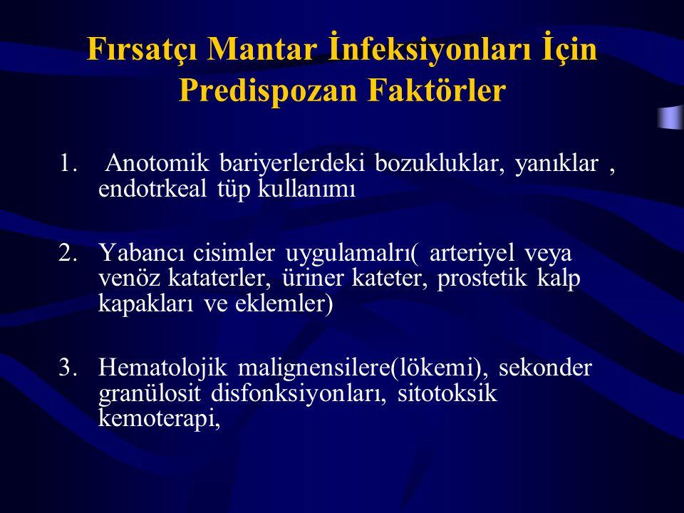 Fırsatçı Mantar İnfeksiyonları İçin Predispozan Faktörler
