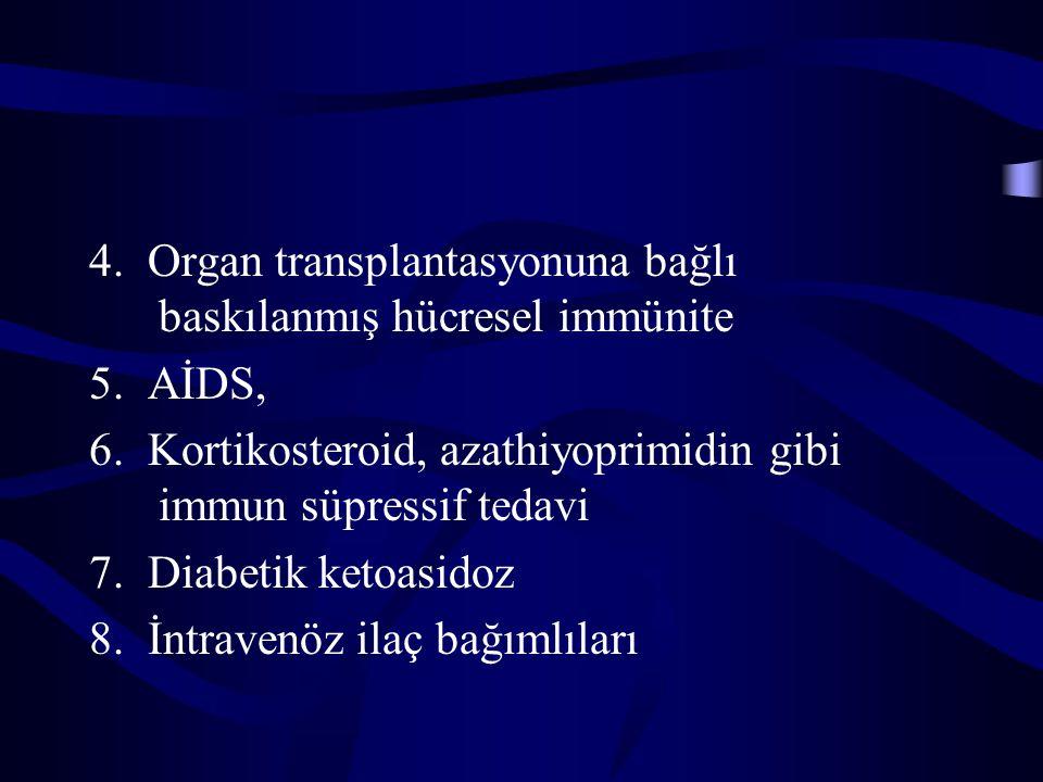 4. Organ transplantasyonuna bağlı baskılanmış hücresel immünite