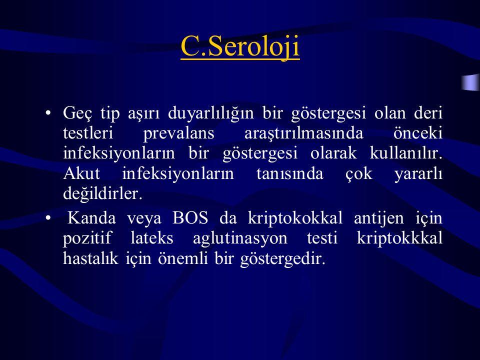 C.Seroloji