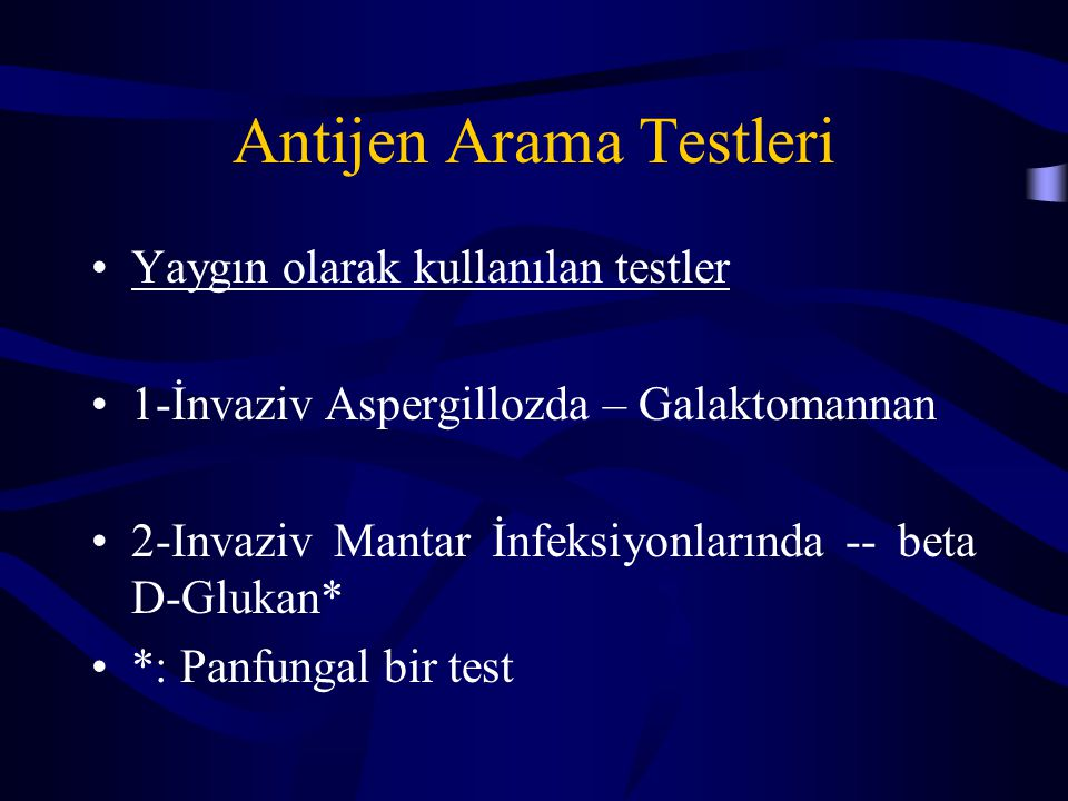 Antijen Arama Testleri
