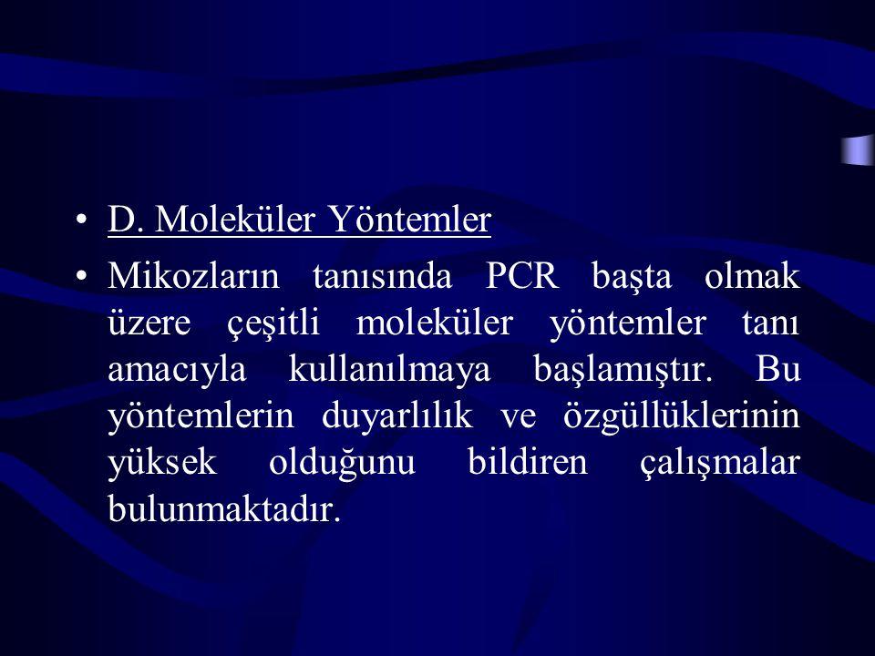D. Moleküler Yöntemler