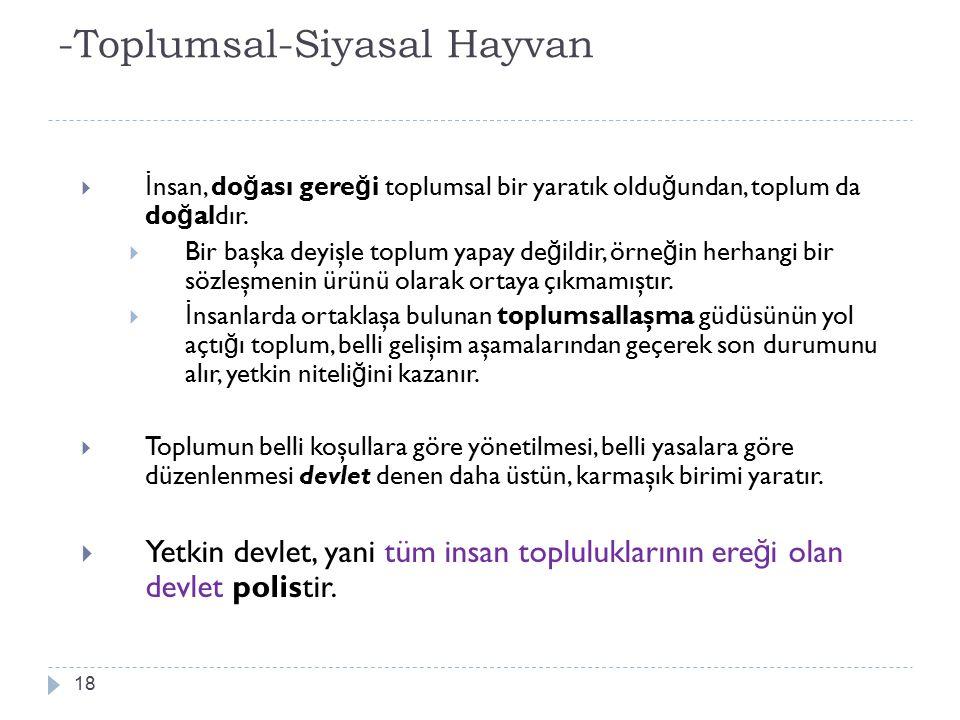 -Toplumsal-Siyasal Hayvan