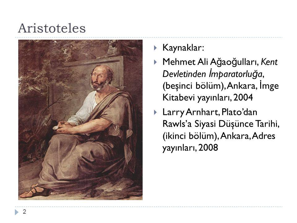 Aristoteles Kaynaklar: