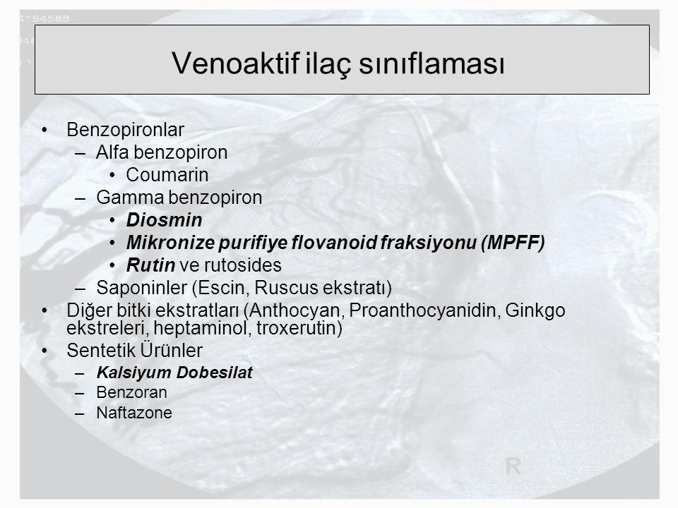Venoaktif ilaç sınıflaması