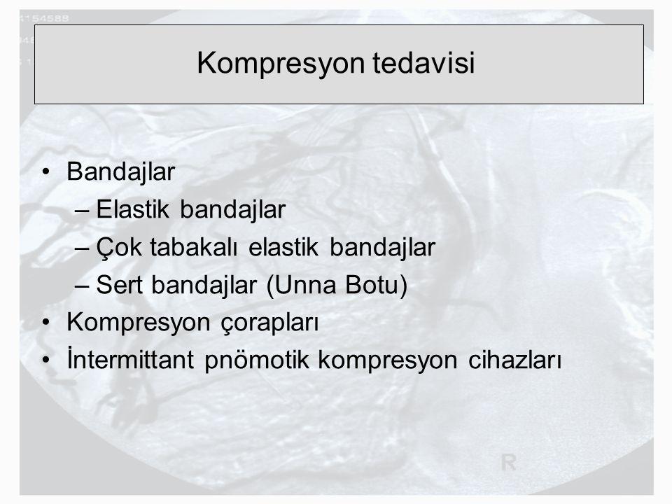 Kompresyon tedavisi Bandajlar Elastik bandajlar