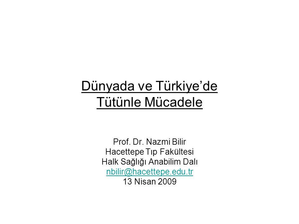 Dünyada ve Türkiye'de Tütünle Mücadele