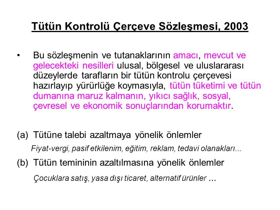 Tütün Kontrolü Çerçeve Sözleşmesi, 2003