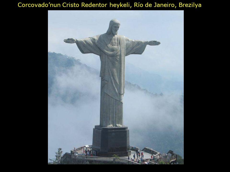 Corcovado'nun Cristo Redentor heykeli, Río de Janeiro, Brezilya