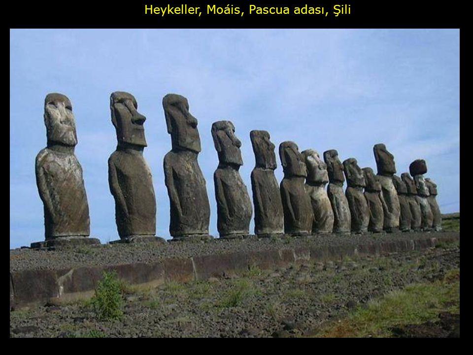 Heykeller, Moáis, Pascua adası, Şili