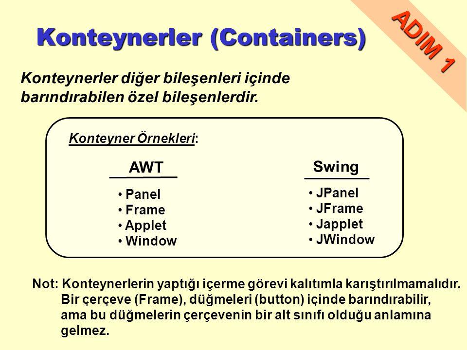 Konteynerler (Containers)