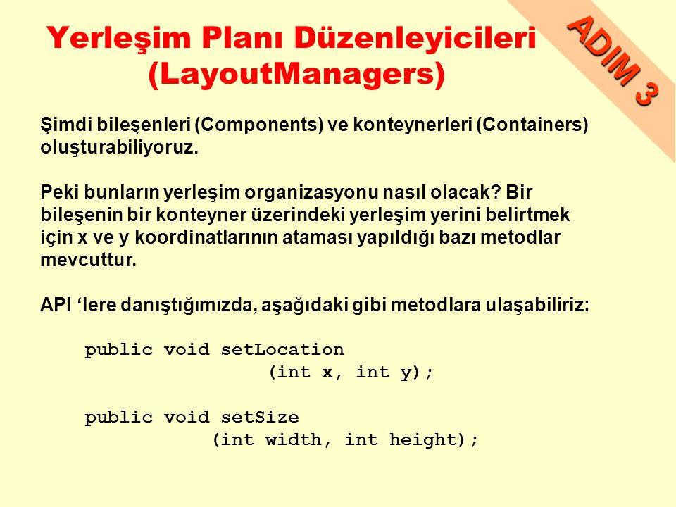 Yerleşim Planı Düzenleyicileri (LayoutManagers)