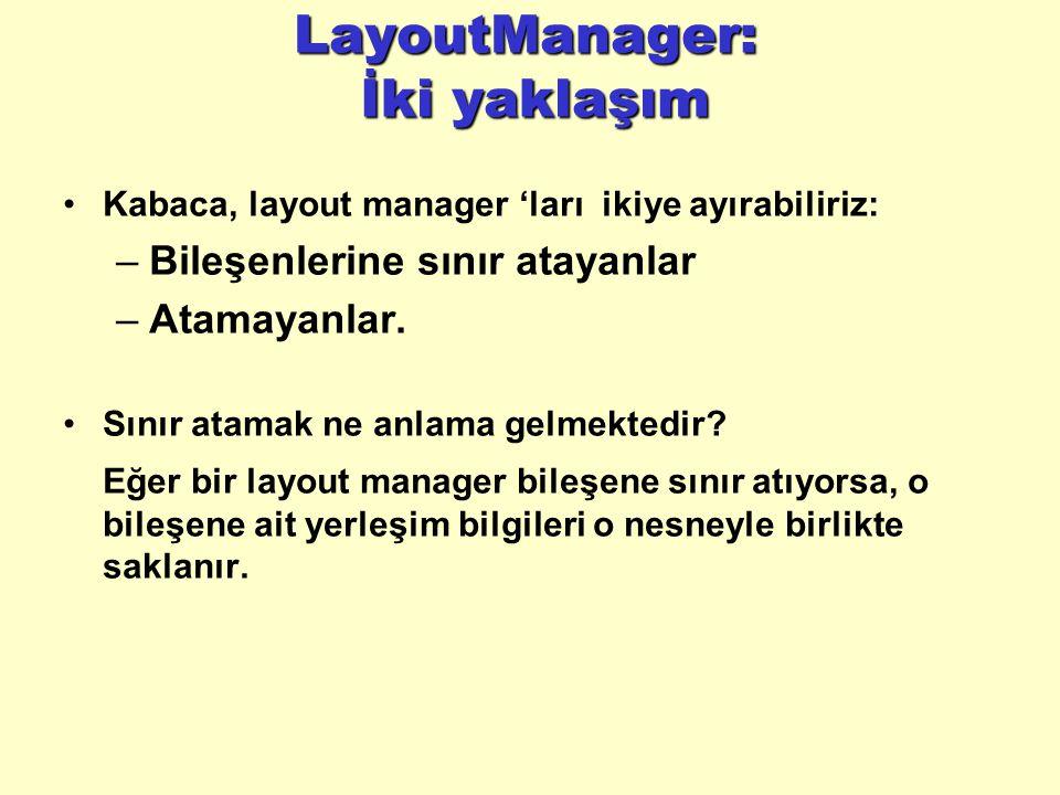 LayoutManager: İki yaklaşım