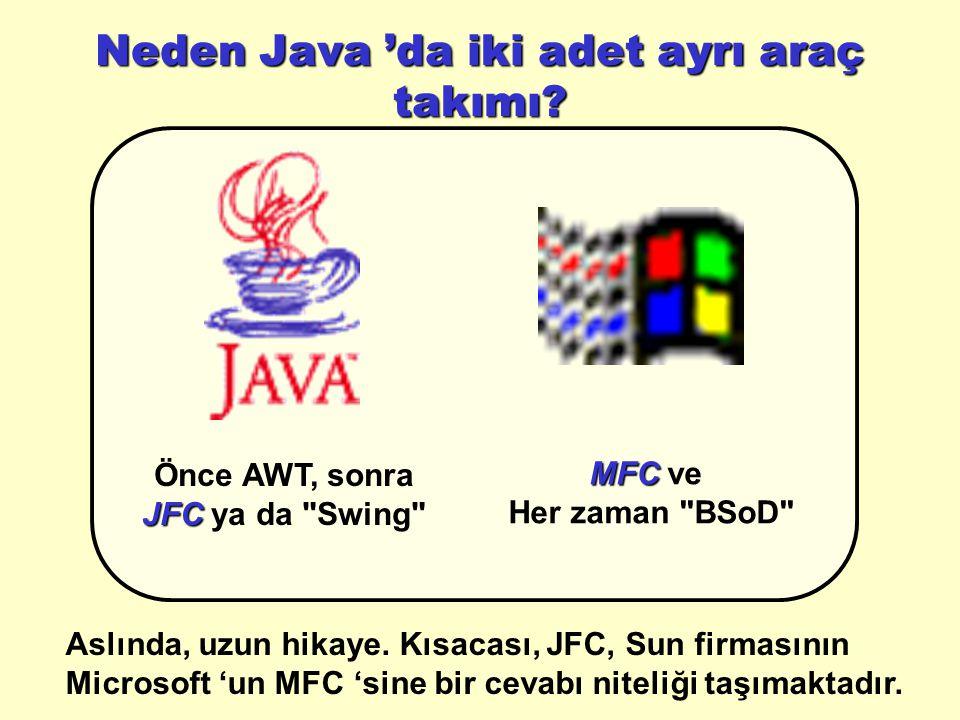 Neden Java 'da iki adet ayrı araç takımı