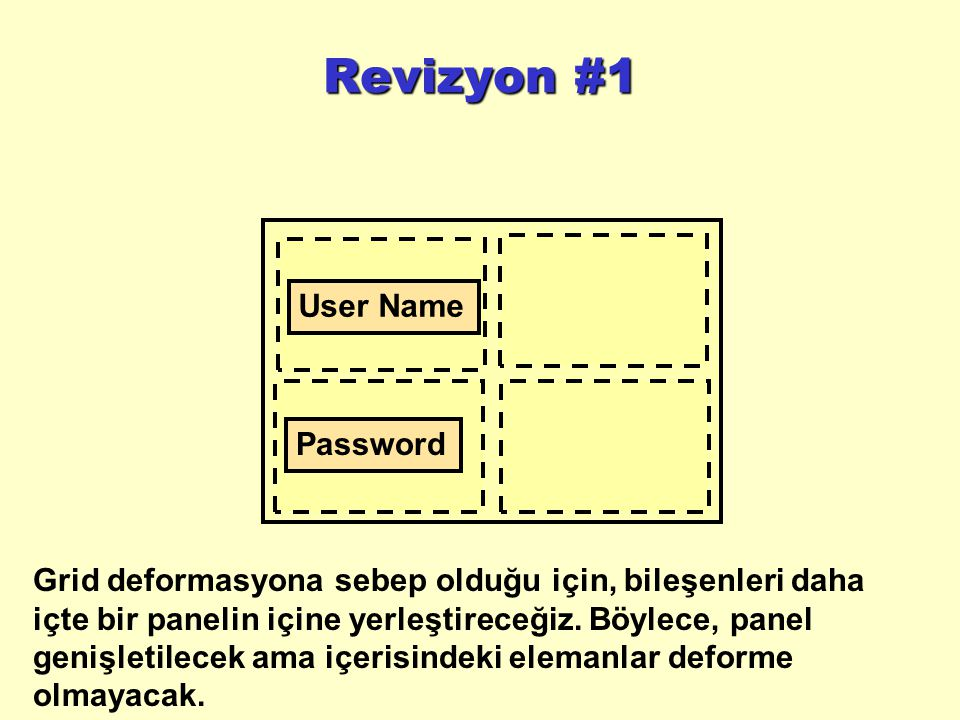 Revizyon #1 User Name Password