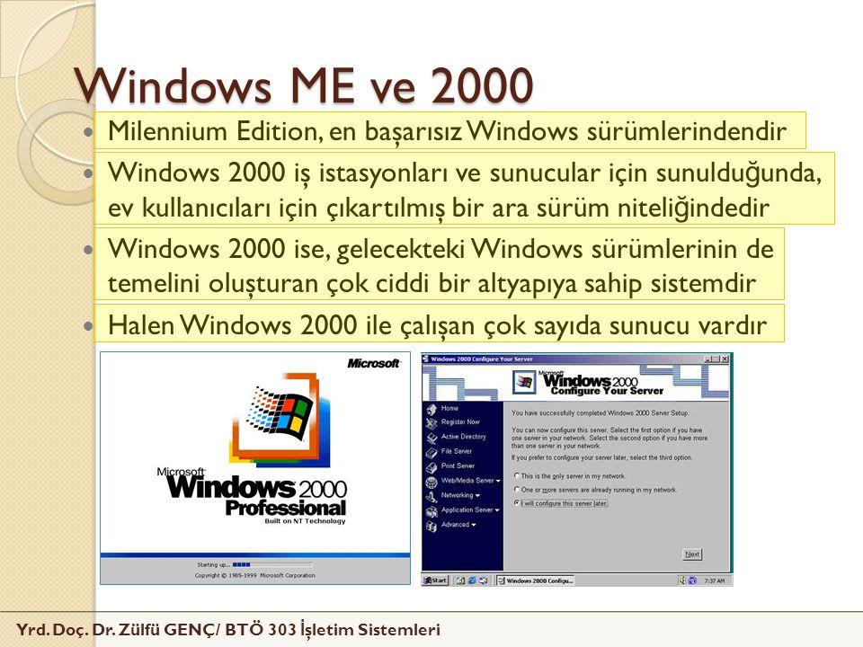 Windows ME ve 2000 Milennium Edition, en başarısız Windows sürümlerindendir.