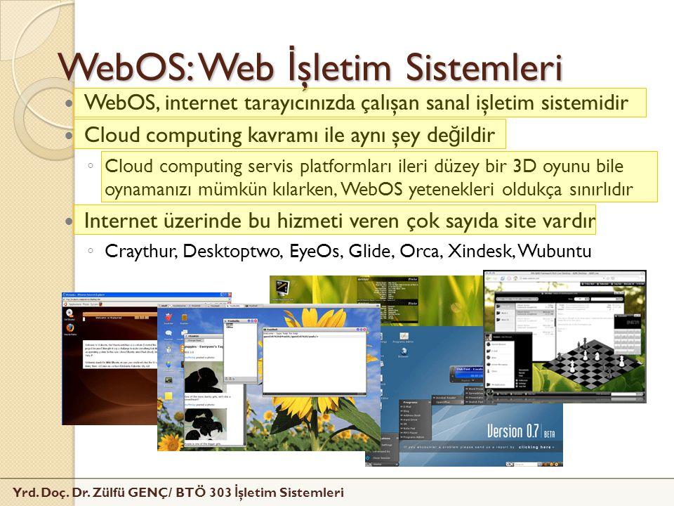 WebOS: Web İşletim Sistemleri