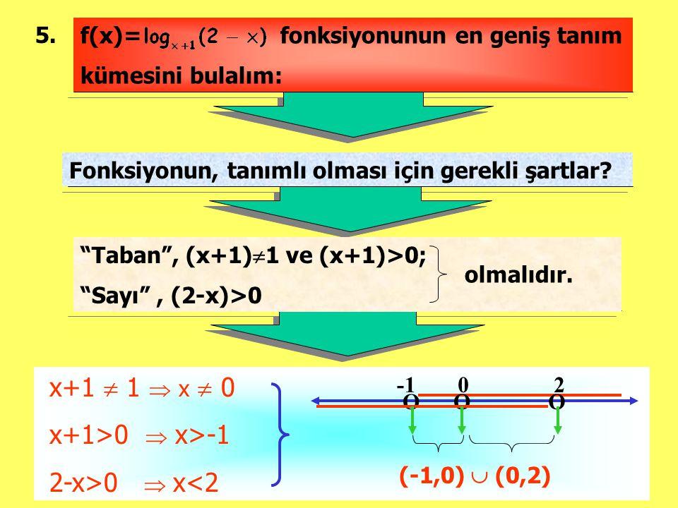 x+1  1  x  0 x+1>0  x>-1 2-x>0  x<2 5.