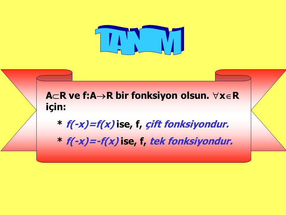 TANIM AR ve f:AR bir fonksiyon olsun. xR için: