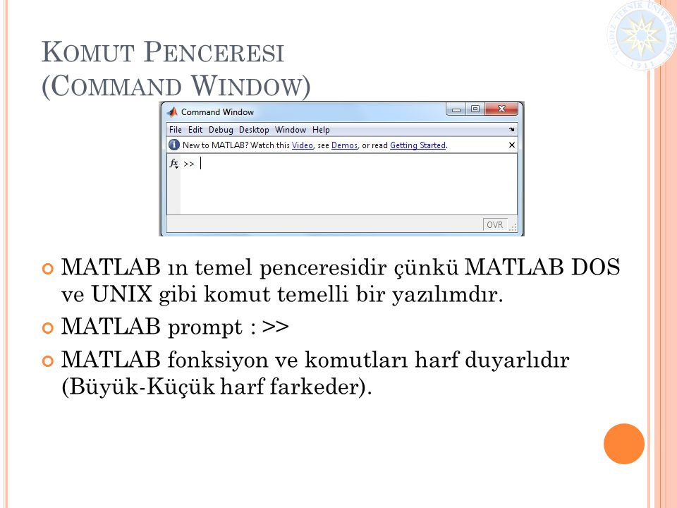 Komut Penceresi (Command Window)