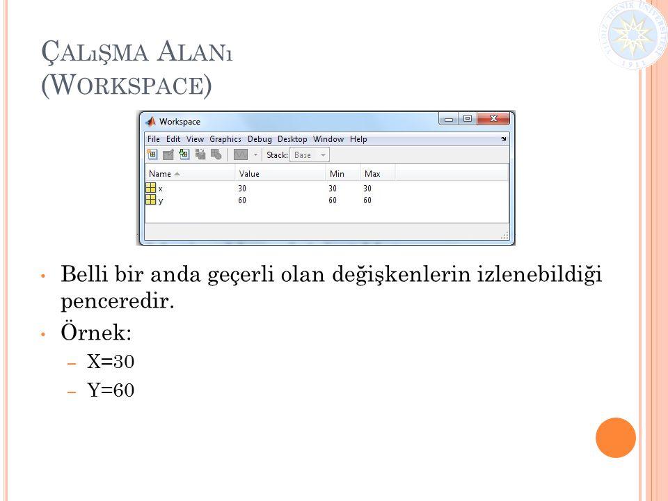 Çalışma Alanı (Workspace)