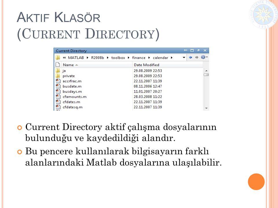 Aktif Klasör (Current Directory)