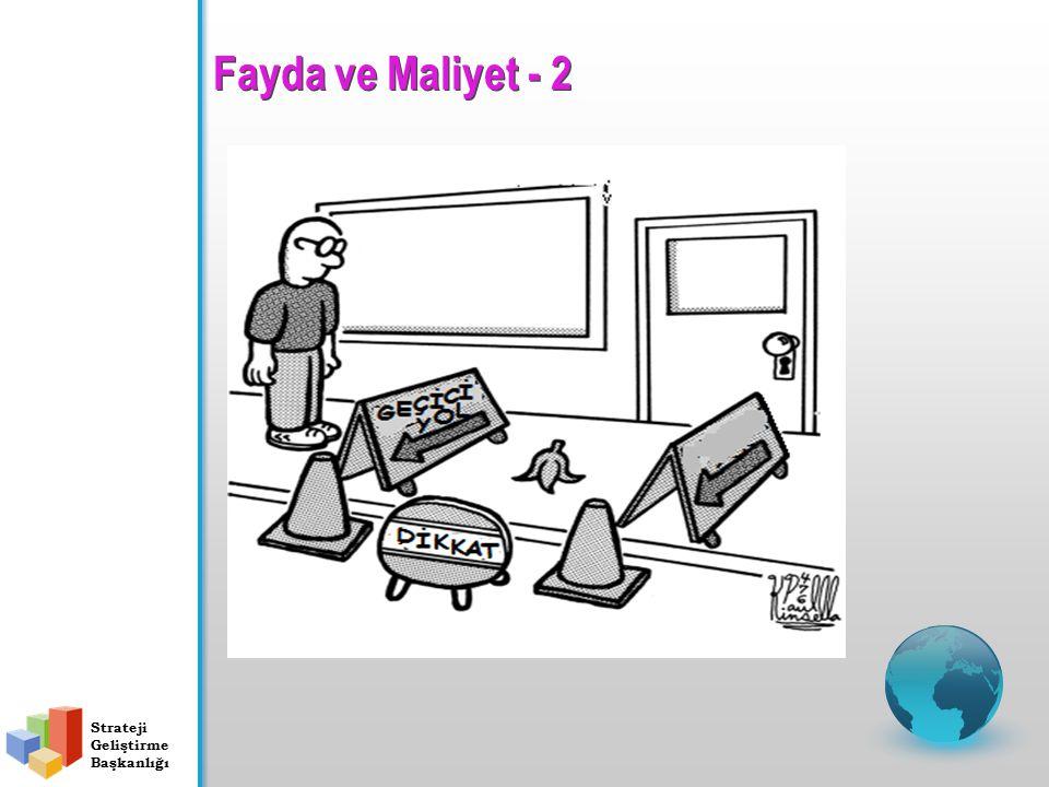 Fayda ve Maliyet - 2 Strateji Geliştirme Başkanlığı
